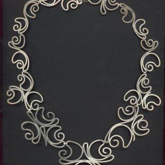 Zilveren rozen collier