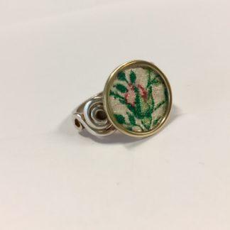 Zilveren roosjes ring