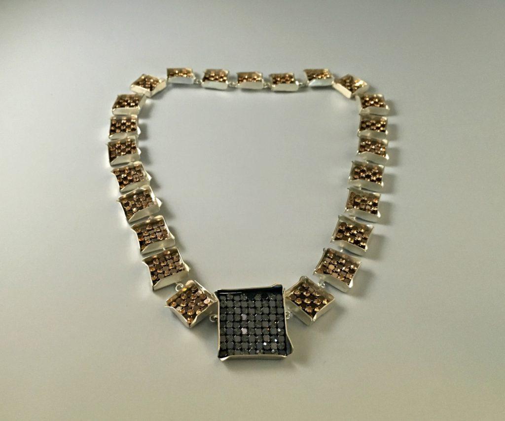 Zilveren party collier